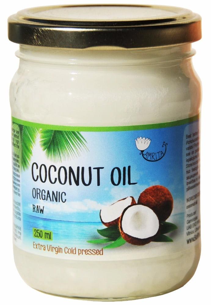 Ekologiškas šalto spaudimo kokosų aliejus AMRITA, 500 ml