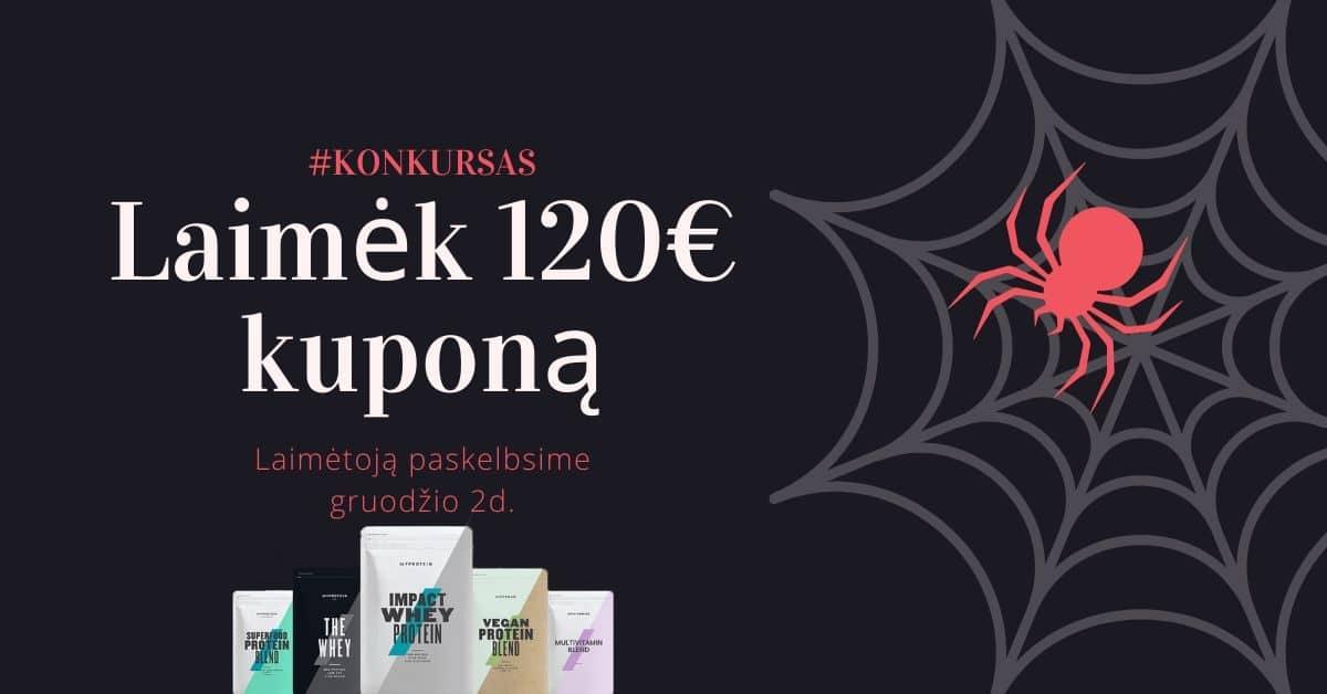 Laimėk 120€ kuponą
