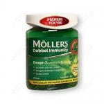 Mollers Žuvų Taukai Dobbel Immunity 100 kapsulių